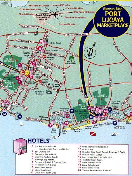 freeport, bahamas | Freeport tourist map - freeport bahamas • mappery