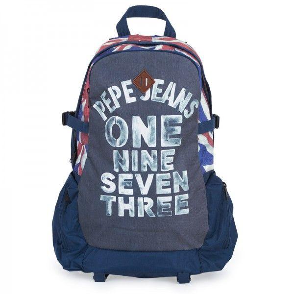 Pepe Jeans Navy Union Jack Backpack at alexandalexa.com