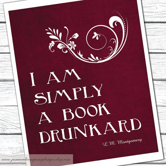 Simply a Book Drunkard Lucy Maud by JaneAndCompanyDesign on Etsy, $20.00