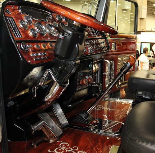 72 best images about large car interiors on pinterest semi trucks trucks and custom trucks. Black Bedroom Furniture Sets. Home Design Ideas