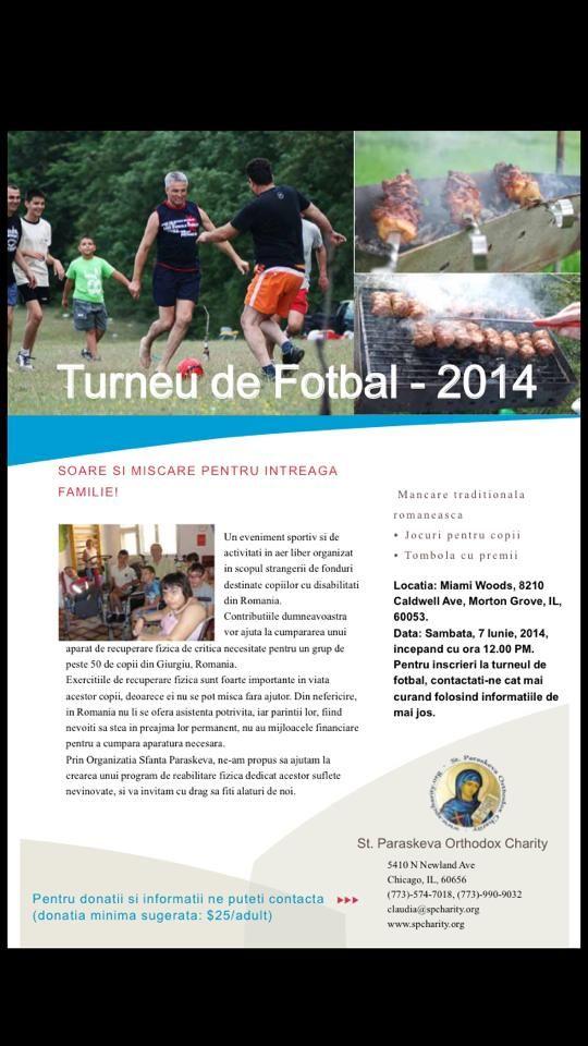 Turneu fotbal 2014, Organizatia Sfanta Paraskeva Chicago, IL
