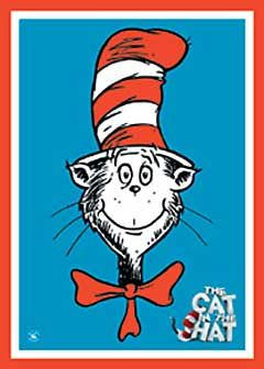 It's just an image of Stupendous Cat In The Hat Directed Drawing