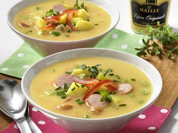 Die typisch französische Senf-Kartoffelsuppe überzeugt durch Ihren fein-scharfen Geschmack.