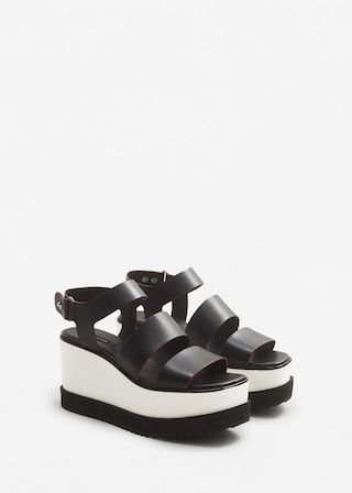 quality design 44b85 662ed Platform leather sandals - Woman in 2019   Fashion   Pinterest   Leather  sandals, Sandals and Shoes