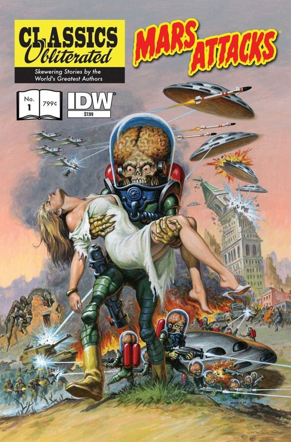 Earl Norem    http://ryallsfiles.tumblr.com/post/45668054241/junes-mars-attacks-classics-obliterated-cover-by#_=_