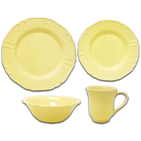 corelle+dinnerware+sets | Corningware 16 pc Traditions Dinnerware Set, Yellow | Corelle ...