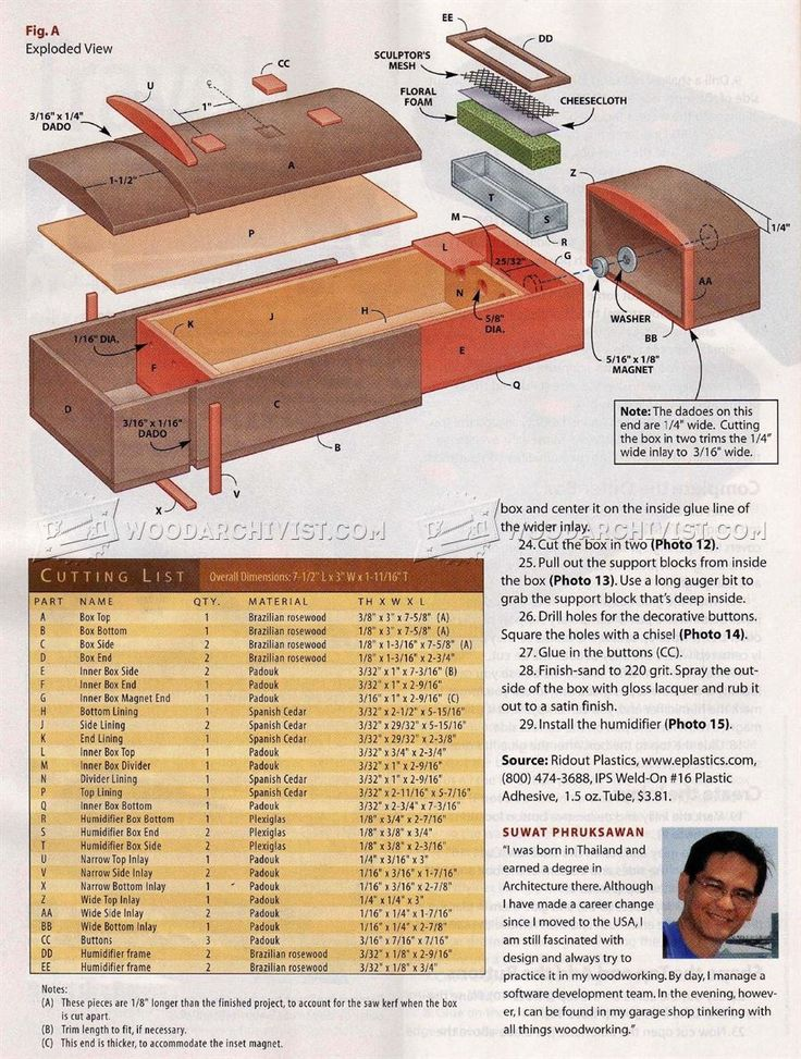 #827 Travel Humidor Plans - Woodworking Plans