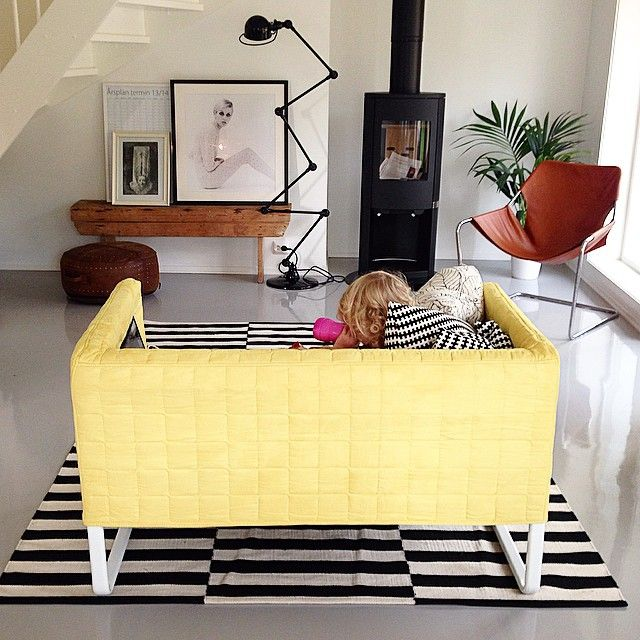 Knopparp And Stockholm Rug For Playroom Living Room