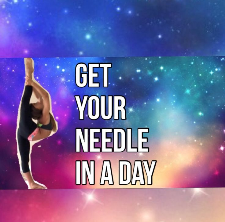 How to get your NEEDLE in ONE DAY!