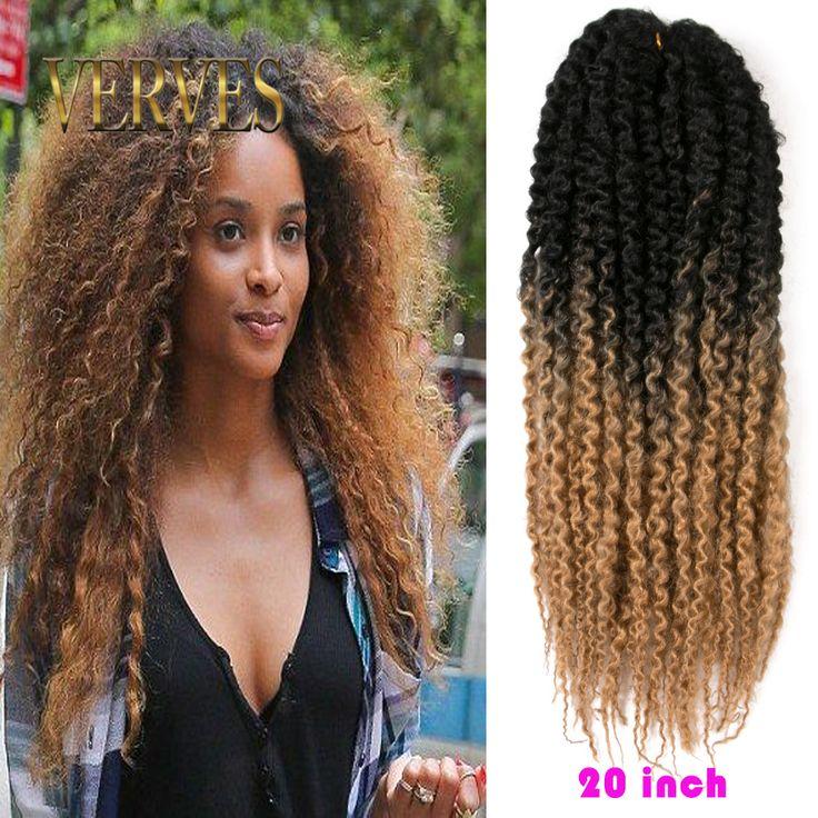 Blond mambo skręt skręt długi Havana szydełka warkoczyki włosy afro perwersyjne skręcają plecionki włosów jumbo szydełka twist box plecionki włosów