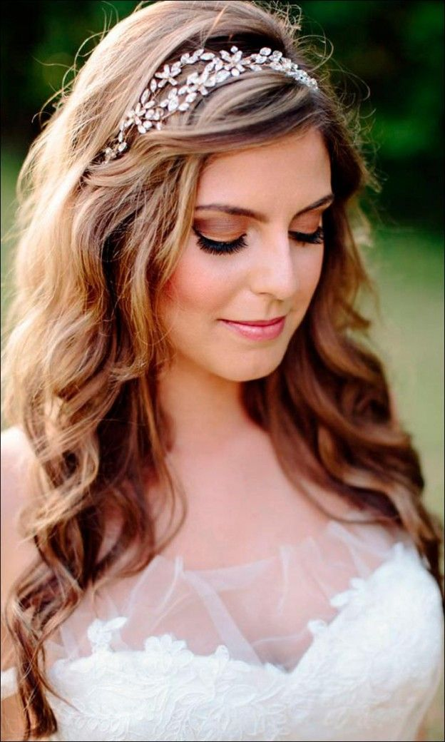 down styles for wedding hair best 25 bridal hairstyles ideas on 9363 | e10414a7e0dfe827236726b28556cb18 tiara hairstyles down wedding hairstyles