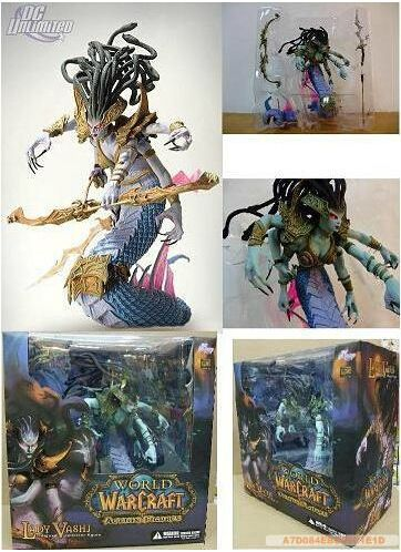 (33.25$)  Watch here  - 26cm Naga Action Figure exquisite Queen Medusa Model ,DC4 game Boss Vashj with Gift Box for Collector