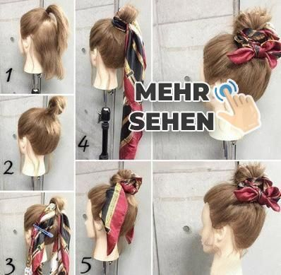 How to Make Adorable Hairstyles with Scarf. Gorgeous Korean Wedding Hairstyles.-... -  #