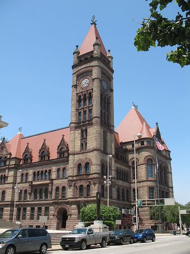 Cincinnati City Hall. When I lived here, was a block from it.  The gothic architecture was always a sight for sore eyes.