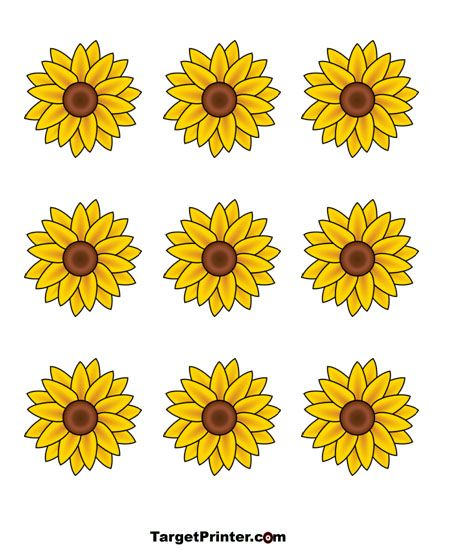 Ambitious image in sunflower printable