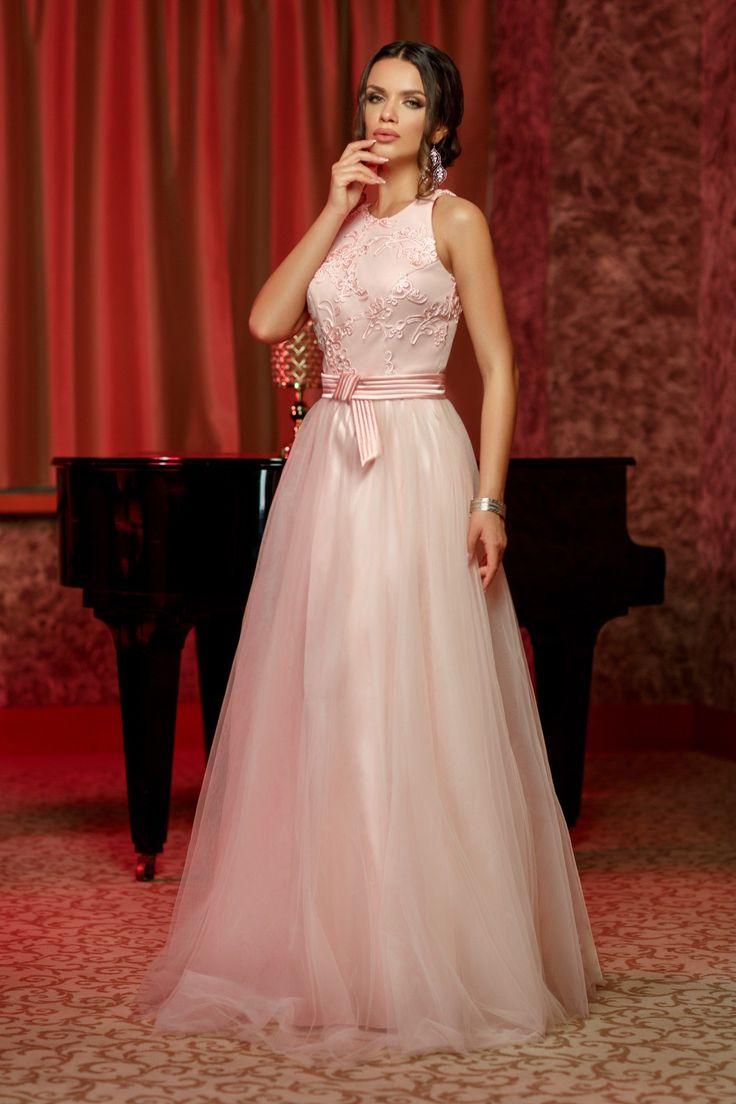 Rochie Wish Roz 499 lei Rochie de seara din tull roz