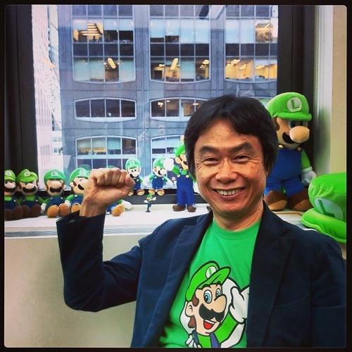 Shigeru Miyamoto creator of Nintendo's Donkey Kong, Mario, Link and the Legend of Zelda, and of course Luigi.