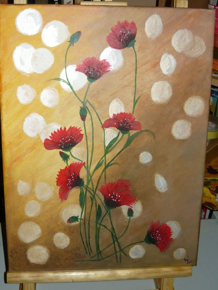 created by: Kovácsné Sz. Éva - acrylic, canvas (Original painting: Original Acrilic Painting  Poppies   Original by ArtonlineGallery, $150.00 http://www.etsy.com/listing/166805366/original-acrilic-painting-poppies?utm_source=Pinterest&utm_medium=PageTools&utm_campaign=Share)