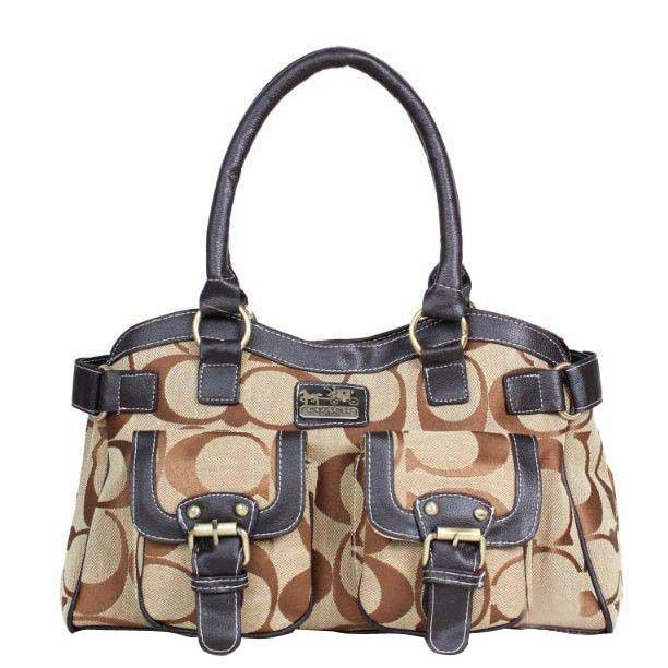 Coach Legacy Logo Signature Medium Khaki Satchels DQF Is A Good Helper For You T