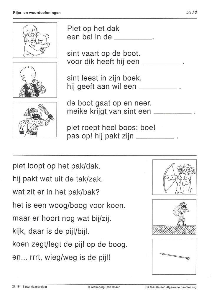 Taal - Werkblad rijmen