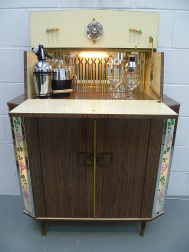 STUNNING Retro Vintage 50s 60s Cocktail Drinks Cabinet Home Bar ATOMIC