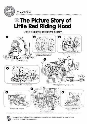Little red riding hood: story and activities