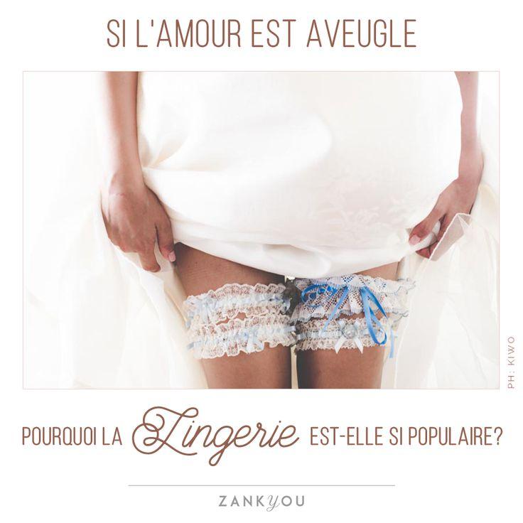Wedding Quote #15 Si l' #amour est #aveugle, pourquoi la #lingerie est-elle si populaire? <3  #wedding #quote #citation #mariage #love