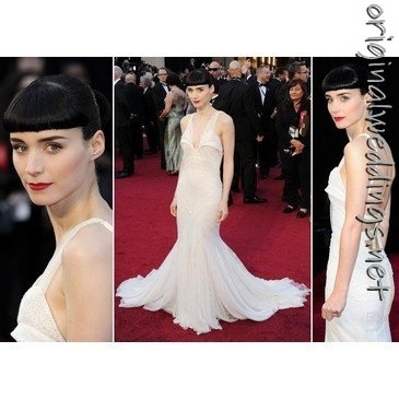Gothic Bride! Rooney Mara Givenchy Gown (spotted on http://originalweddings.net ): Gothic Bride