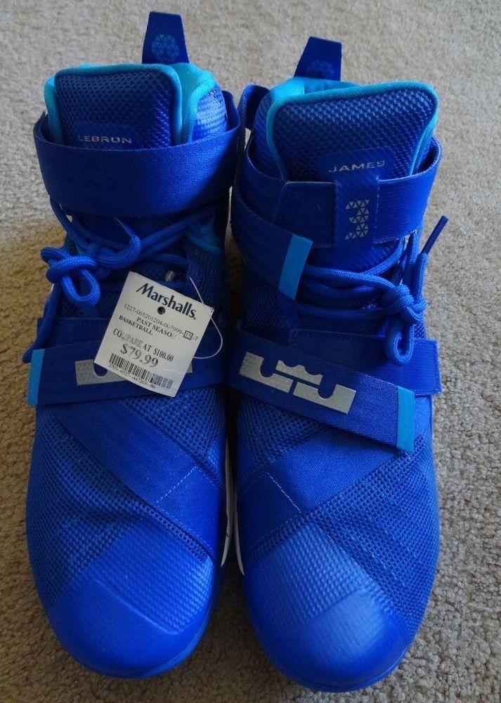 d802c8e517bb Nike Lebron Size 16 Blue High Top NWT Made China Compare    100.00 Marked   79.99  Nike  BasketballShoes