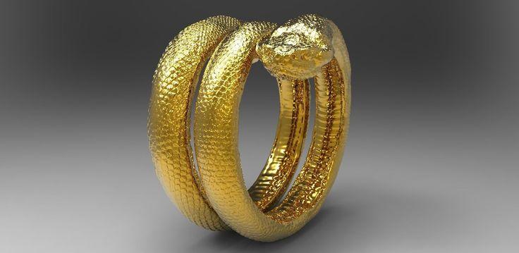 snake ring 3d model stl 2