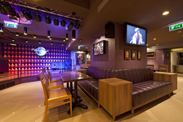 Hard Rock Cafe Budapest  Custom cabinets, panelling, counters and other catering furnitures were essence of the order. The investments value was more than EUR 100 000. #ViaGroup