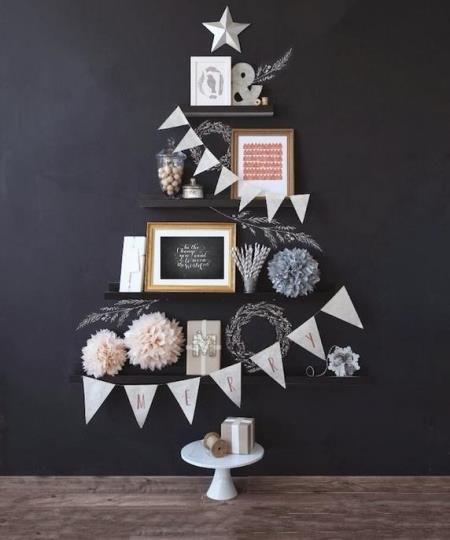 необычная елка, оригинальная елка, елка своими руками, как сделать елку своими руками, украшения для дома (к празднику), аксессуары для дома...
