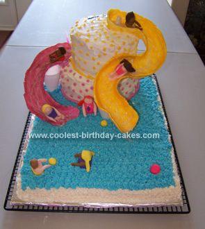 Water Slide Birthday Cake