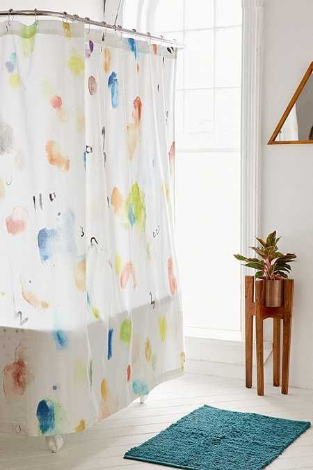 Painterly Marks Shower Curtain