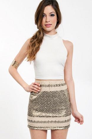 Sequin Sands Skirt $46 at www.tobi.com