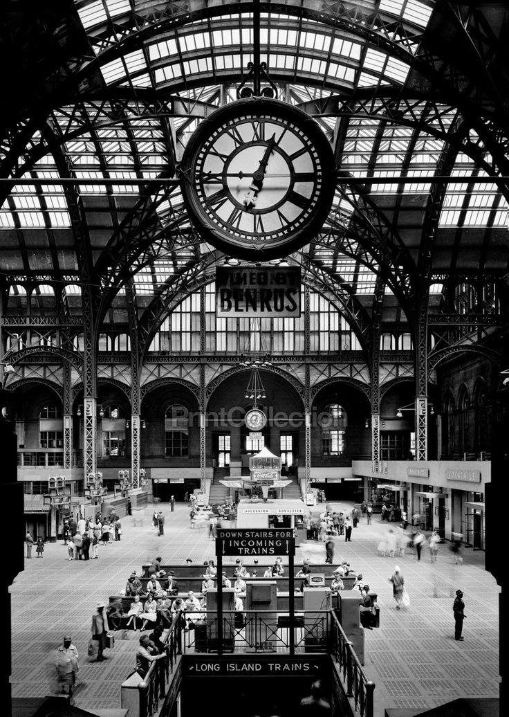 Pennsylvania Station, 370 Seventh Avenue, West Thirty-first, Thirty-first-Thirty-third Streets, New York, New York, NY. Cervin Robinson, Photographer April 24, 1962. Other Title: Penn Station #affordableart #photography Related Names: Charles Follen McKim, William Rutherford Mead, Stanford White. Photo 5 x 7 in. Building/structure dates: 1903 initial construction Building/structure dates: 1963 demolished