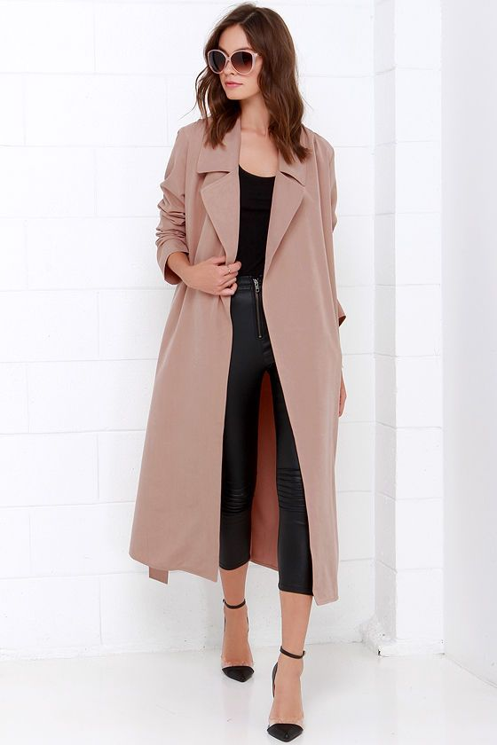 Best 25  Long trench coat ideas on Pinterest | Trench coats, Tan ...