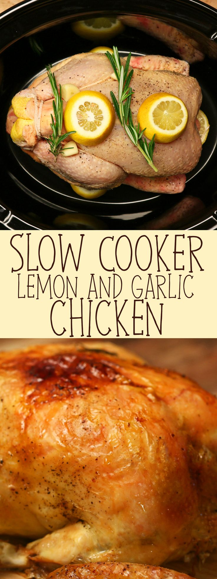 Slow Cooker Lemon And Garlic Chicken                                                                                                                                                      More