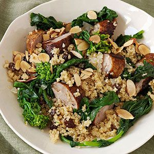 Chicken-Apple Sausage Quinoa from familycircle.com #chicken #30minutemeals