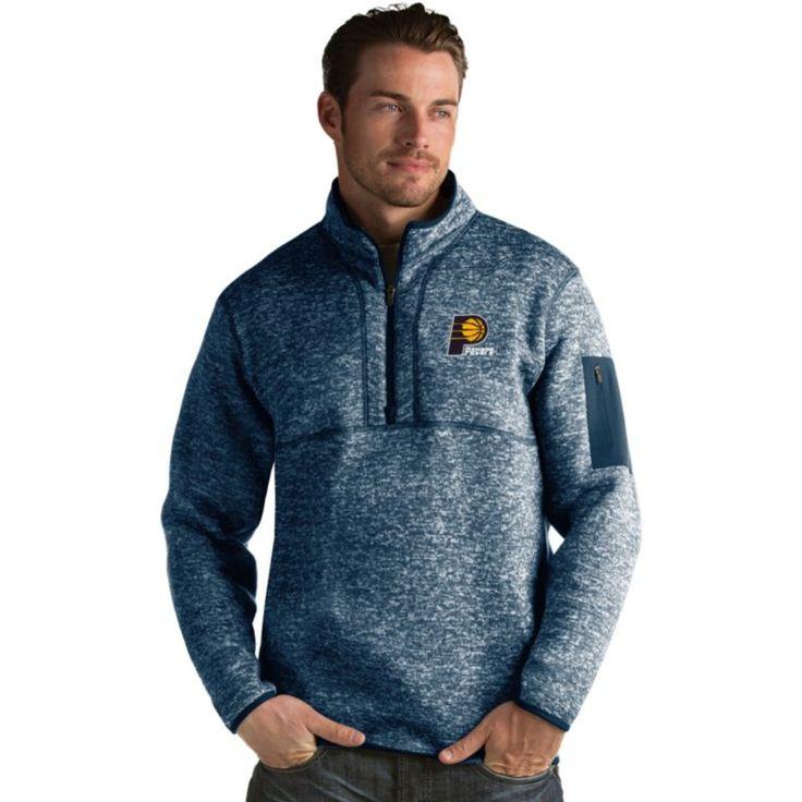 Antigua Men's Indiana Pacers Fortune Navy Half-Zip Pullover, Size: Medium, Team