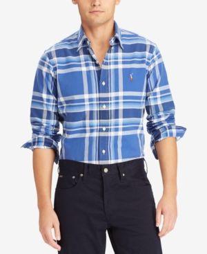 Polo Ralph Lauren Men's Classic-Fit Shirt - Royal/Blue XXL