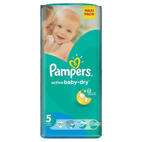 PAMPERS Active Baby VPP Junior 11-18kg 50ks  Plenky Pampers pro Vaše děťátko levně! Doprava zdarma při objednání nad 1000 Kč!   https://babyplenky.cz/