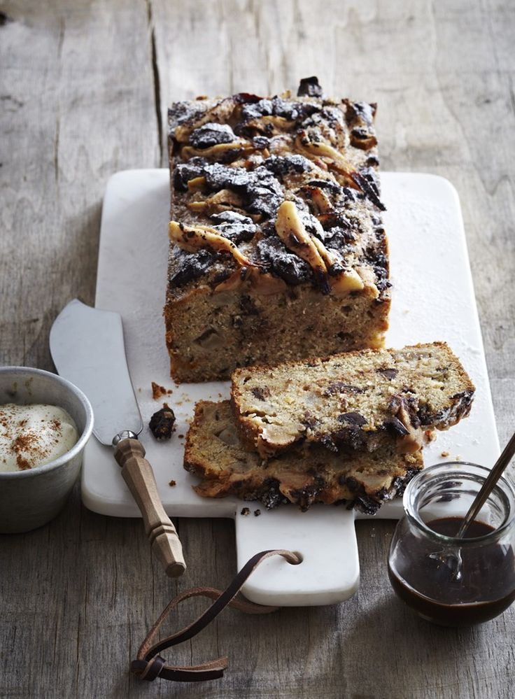 With an abundance of pears in my kitchen, a tender, lightly spiced pear loaf with a hit of dark chocolate seemed an appropriate and delicious winter baking recipe.
