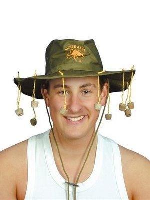 Swagman's Hat   KEEPS THE BLOODY FLIES OFF