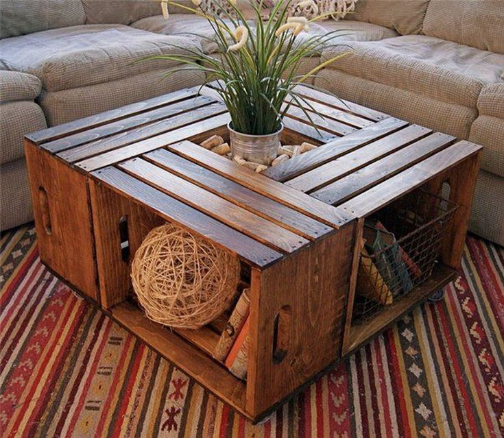 .DIY Crate table. Somebody find me some crates!! Please?