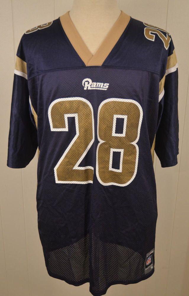 f30a114e Reebok St. Louis Rams Jersey #28 Marshall Faulk NFL Adult XL Los ...