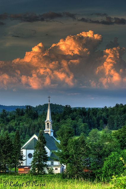 little country church on the edge of town...