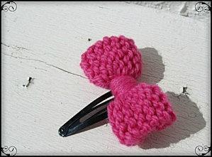 Noeud tricot barrette