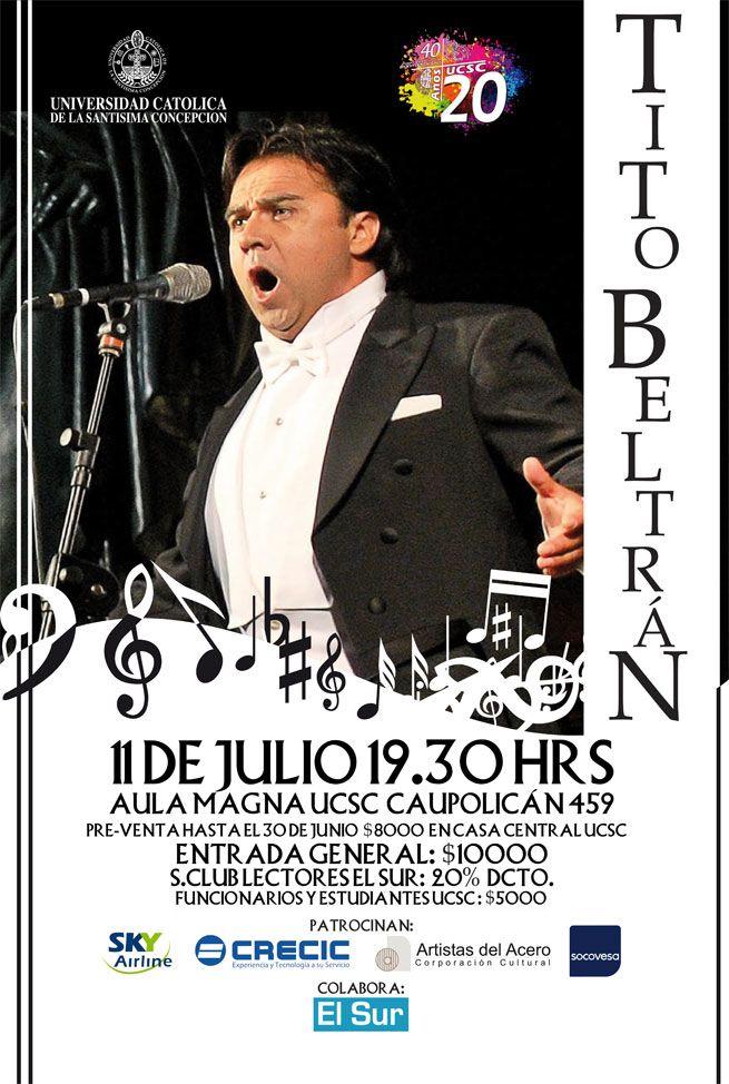 Afiche para Concierto de Ópera