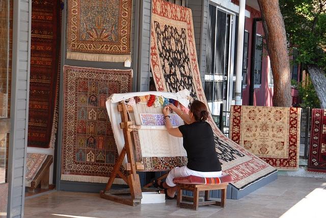 wish I'd bought one of the beautiful rugs in Kusadasi, Turkey
